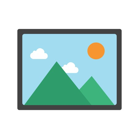 Picture Sign Icon Vector Illustration For Personal And Commercial Use... Clean Look Trendy Icon... Ilustração