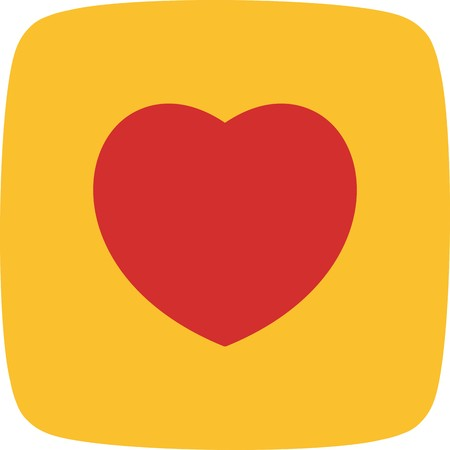 Heart Sign Icon Vector Illustration For Personal And Commercial Use...Clean Look Trendy Icon...