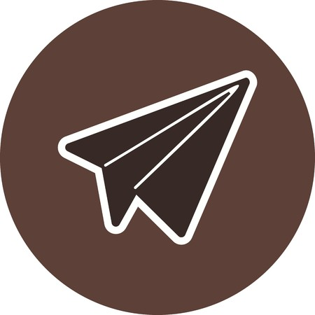 Paper Plane Sign Icon Vector Illustration For Personal And Commercial Use...