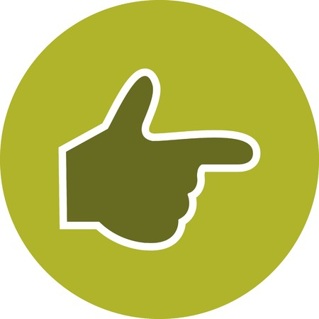 Hand Sign Icon Vector Illustration For Personal And Commercial Use... Clean Look Trendy Icon... Ilustração