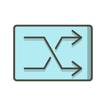 Shuffle Sign Icon Vector Illustration For Personal And Commercial Use...Clean Look Trendy Icon... 向量圖像