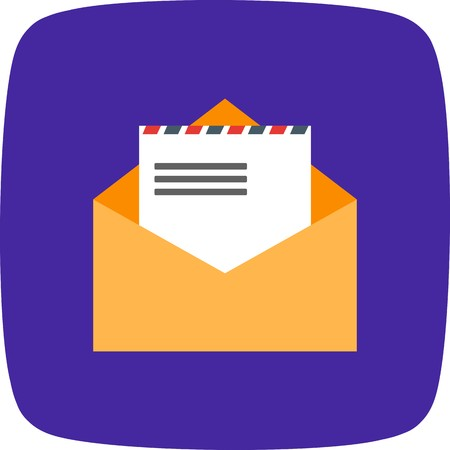 Envelope Sign Icon Vector Illustration For Personal And Commercial Use...Clean Look Trendy Icon... 向量圖像