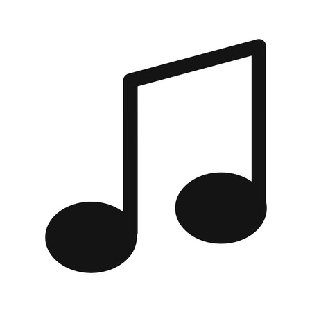 Music Note Sign Icon Vector Illustration For Personal And Commercial Use...