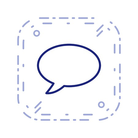 Chat Sign Icon Vector Illustration For Personal And Commercial Use... Clean Look Trendy Icon... Illusztráció