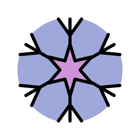 Snow Flake Vector Icon For Personal And Commercial Use.............