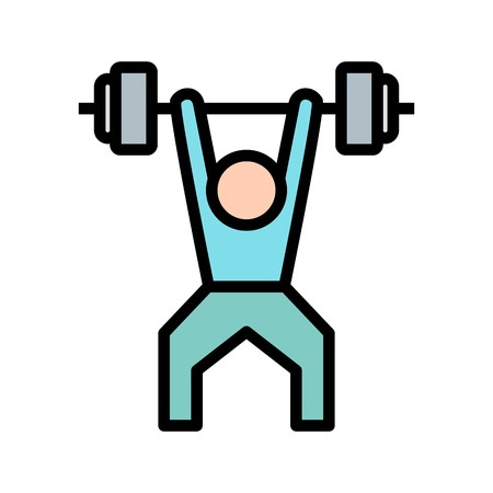 Weightlifting Sign Icon Vector Illustration For Personal And Commercial Use... Clean Look Trendy Icon...
