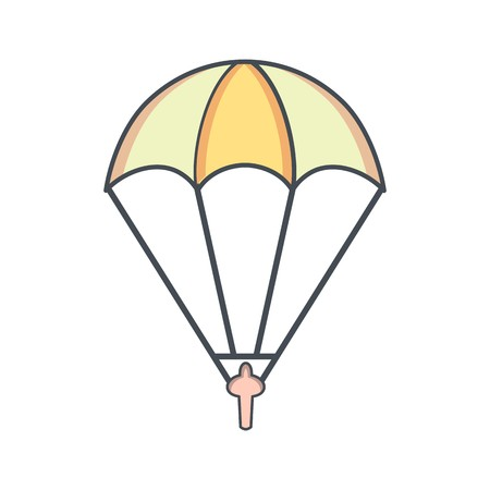 Parachutist Sign Icon Vector Illustration For Personal And Commercial Use...Clean Look Trendy Icon...