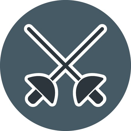 Fencing Sign Icon Vector Illustration For Personal And Commercial Use...Clean Look Trendy Icon... Archivio Fotografico - 112595830