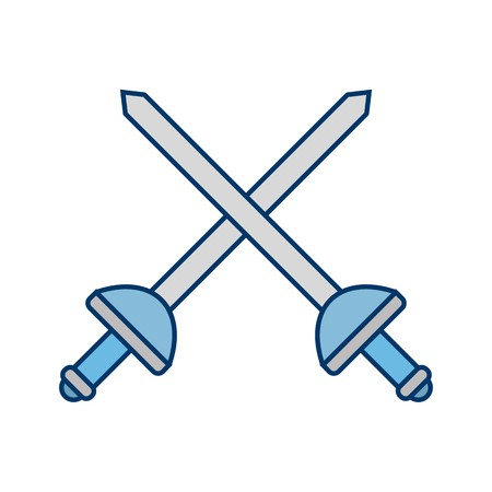 Fencing Sign Icon Vector Illustration For Personal And Commercial Use...Clean Look Trendy Icon... Archivio Fotografico - 112595838