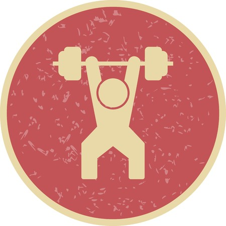 Weightlifting Sign Icon Vector Illustration For Personal And