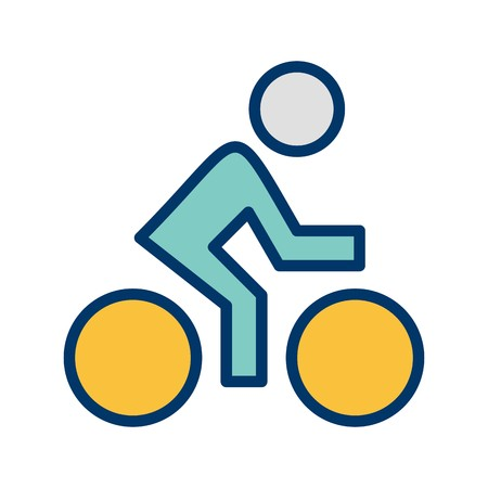 Cyclist Sign Icon Vector Illustration For Personal And Commercial Use...