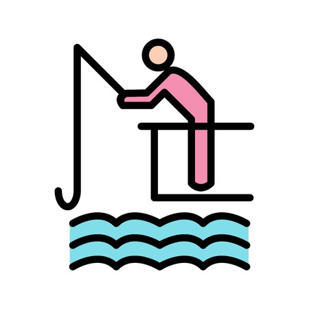 Fishing Sign Icon Vector Illustration For Personal And Commercial Use...