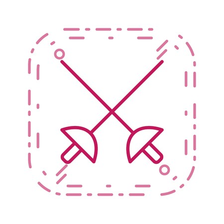 Fencing Sign Icon Vector Illustration For Personal And Commercial Use...Clean Look Trendy Icon... Archivio Fotografico - 112649444