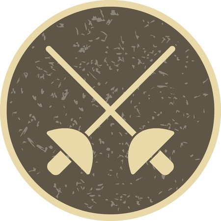 Fencing Sign Icon Vector Illustration For Personal And Commercial Use...