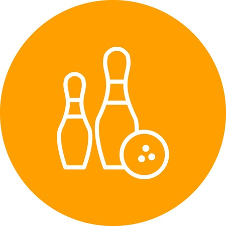 Bowling Sign Icon Vector Illustration For Personal And Commercial Use...