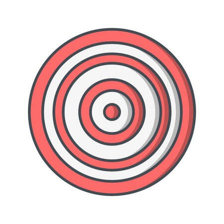 Bullseye Sign Icon Vector Illustration For Personal And Commercial Use...