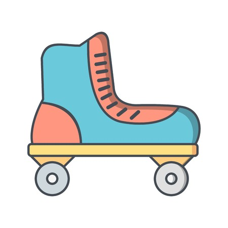 Roller Skate Sign Icon Vector Illustration For Personal And Commercial Use...