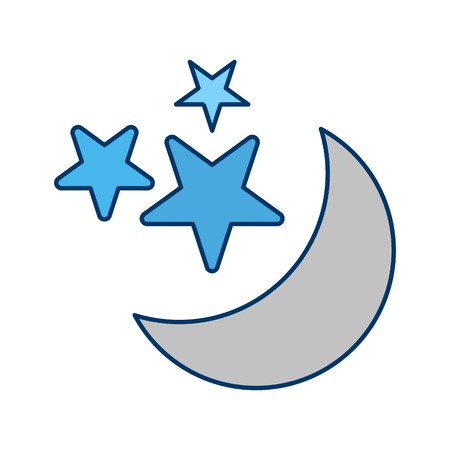 Moon And stars Vector Icon For Personal And Commercial Use. Vektorové ilustrace