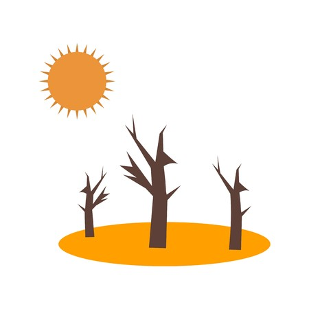 Drought Vector Icon For Personal And Commercial Use. Illustration