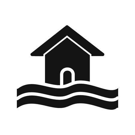 Flood Symbol Vector Icon For Personal And Commercial Use.............