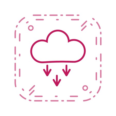 Precipitation Vector Icon For Personal And Commercial Use. Çizim