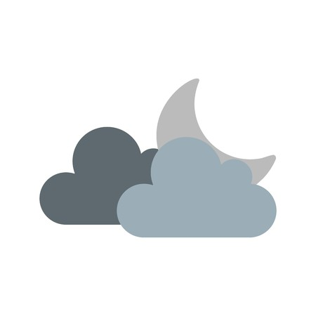 Cloud And Moon Vector Icon For Personal And Commercial Use.............