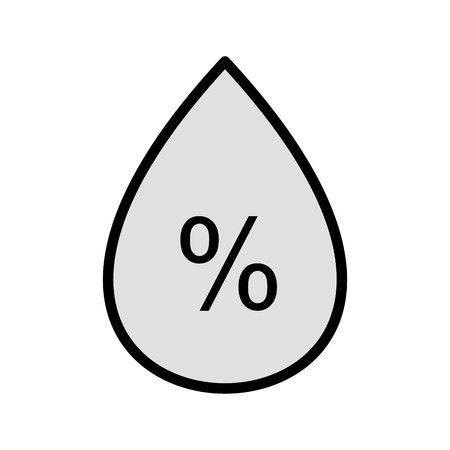 Humidity Vector Icon For Personal And Commercial Use.............