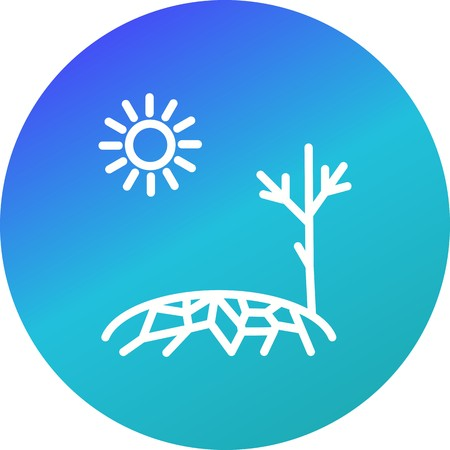 Drought Vector Icon For Personal And Commercial Use. Ilustrace