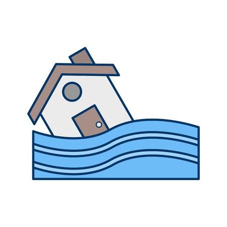 Hochwasser-Symbol-Vektor-Symbol für den privaten und gewerblichen Gebrauch............ Vektorgrafik