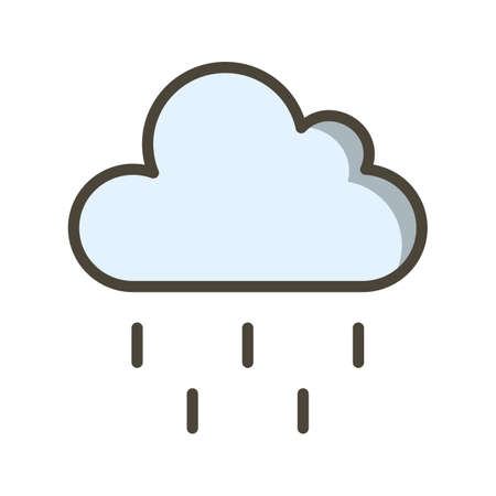 Rain Vector Icon For Personal And Commercial Use Çizim