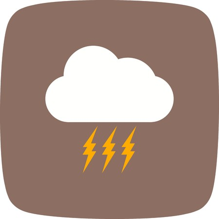 Storm Vector Icon For Personal And Commercial Use............. Illustration