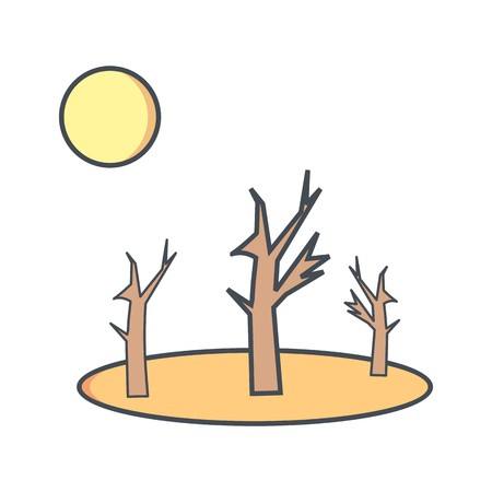 Drought Vector Icon For Personal And Commercial Use.............