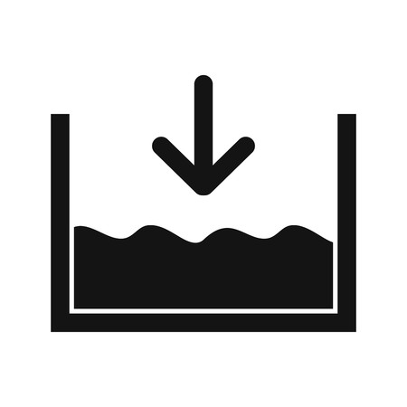 Below sea level Vector Icon For Personal And Commercial Use 向量圖像