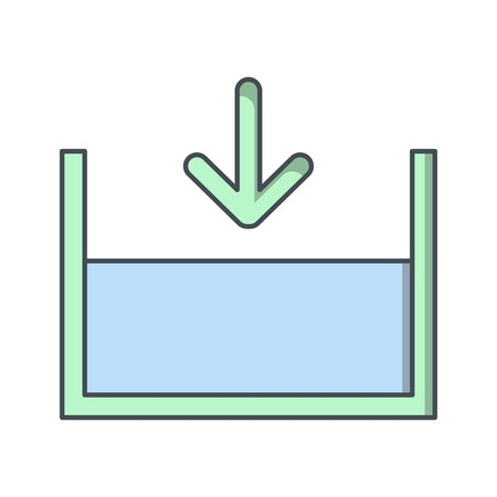 Below sea level Vector Icon For Personal And Commercial Use Ilustração