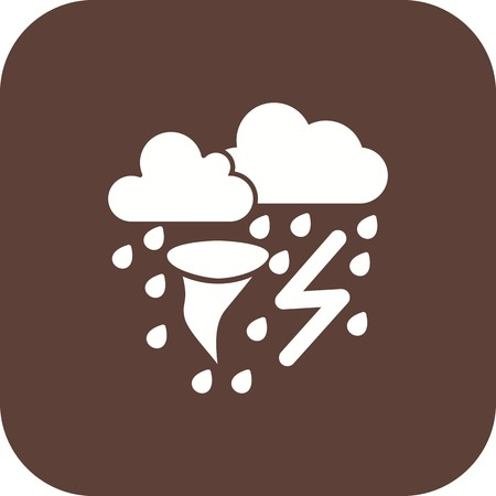 Bad Weather Vector Icon For Personal And Commercial Use.
