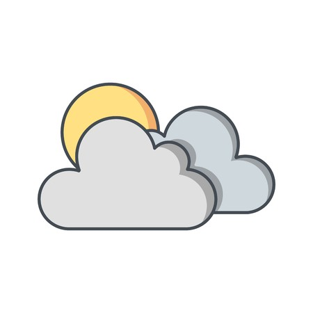 Sunny Vector Icon For Personal And Commercial Use.............