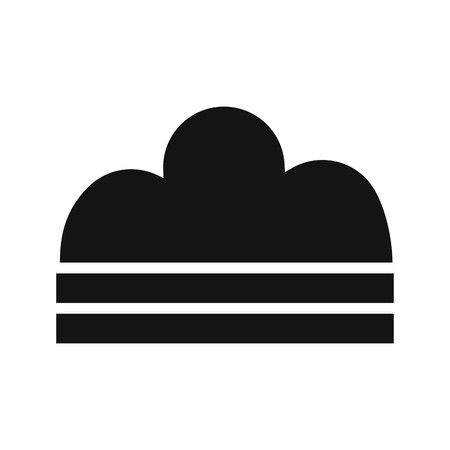Fog Vector Icon For Personal And Commercial Use.............  イラスト・ベクター素材