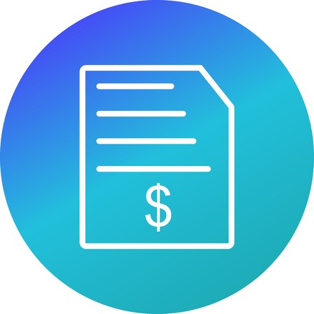 Invoice Vector Icon Sign Icon Vector Illustration For Personal And Commercial Use...Clean Look Trendy Icon...