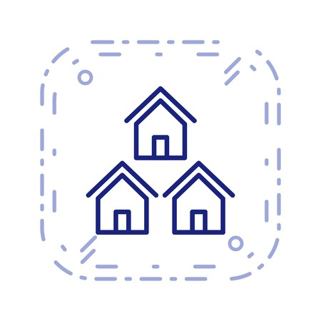 Neighborhood Vector Icon Sign Icon Vector Illustration For Personal And Commercial Use... Clean Look Trendy Icon... Stock Illustratie