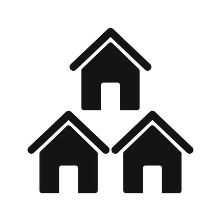 Neighborhood Vector Icon Sign Icon Vector Illustration For Personal And Commercial Use...Clean Look Trendy Icon... Stockfoto - 113108080