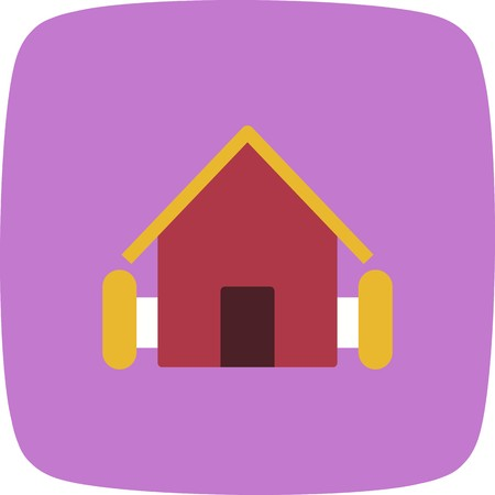 Farm House Vector Icon Sign Icon Vector Illustration For Personal And Commercial Use...