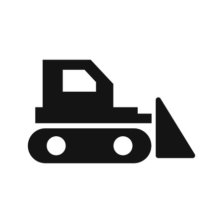Bulldozer Vector Icon Sign Icon Vector Illustration For Personal And Commercial Use...