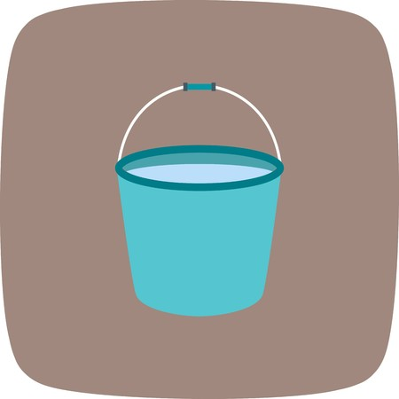 Bucket Vector Icon Sign Icon Vector Illustration For Personal And Commercial Use...Clean Look Trendy Icon...