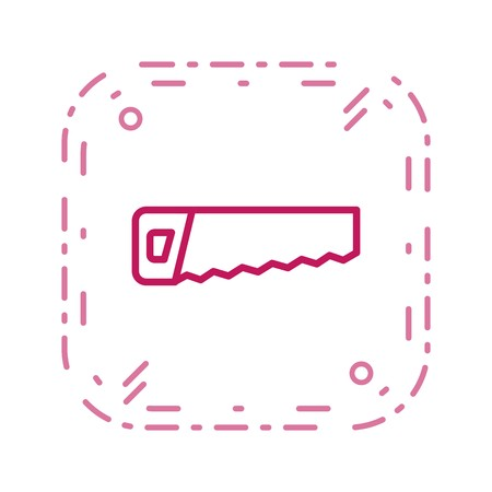 Saw Vector Icon Sign Icon Vector Illustration For Personal And Commercial Use...Clean Look Trendy Icon... Stock Illustratie