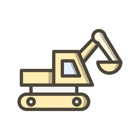 Excavator Vector Icon Sign Icon Vector Illustration For Personal And Commercial Use...