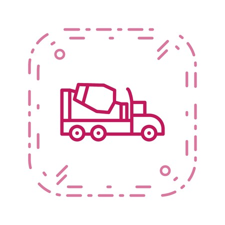 Concrete Mixer Vector Icon Sign Icon Vector Illustration For Personal And Commercial Use...