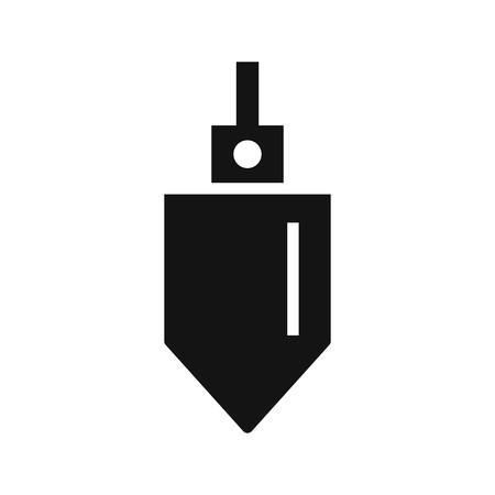 Plumb Bob Vector Icon Sign Icon Vector Illustration For Personal And Commercial Use...Clean Look Trendy Icon...