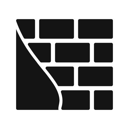 Brick wall Vector Icon Sign Icon Vector Illustration For Personal And Commercial Use...Clean Look Trendy Icon...