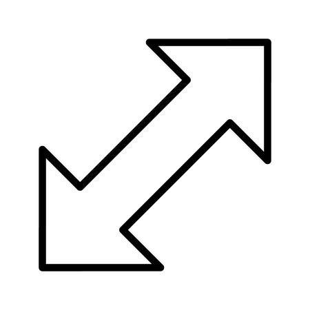 Double Arrow Vector Icon Illustration