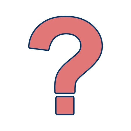 Question Mark Vector Icon Sign Icon Vector Illustration For Personal And Commercial Use... Clean Look Trendy Icon... 向量圖像